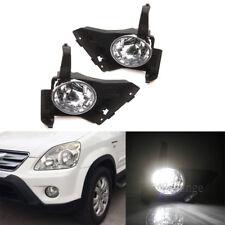 2X LED Clear Front Bumper Fog Light Driving Lamp Fit For Honda CR-V CRV 2005-06