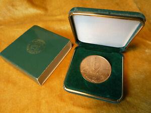 "1991 NORMAN SCHWARZKOPF CONGRESSIONAL GOLD MEDAL, 1 1/2"", DIA. ,BRONZE US MINT"