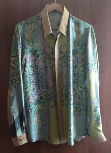 Versace Collection Silk Shirt FLORAL Vintage Men 40