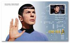 STAR TREK = LEONARD NIMOY as officer SPOCK = OFDC = FDC Canada 2016