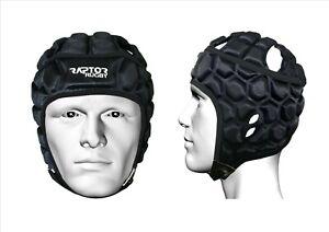 Raptor Rugby Honeycomb Headguard Scrum Cap Helmet Head Guard/Gear: M Boys to XL.