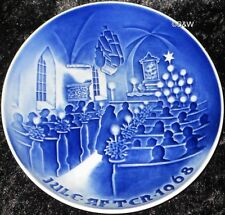 1968 BING & GRONDAHL / ROYAL COPENHAGEN PIATTO DI NATALE TOP PRIMA SCELTA
