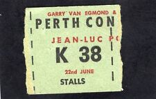 1976 Jean Luc Ponty concert ticket stub Perth Australia