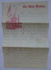 New listing 1862 Civil War Boy Soldier letter by 16yo Edgar Dierdorff died Chancellorsville