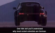 Porsche 911 Why most rocket scientists are German /Banner Poster Large 36x53 New