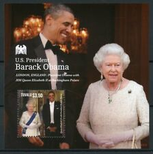 Tuvalu 2013 MNH US President Barack Obama Queen Elizabeth II 1v S/S I Stamps