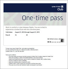 2 Passes for United Club One Time Pass EXP 1/5/2020 NOT CHASE E-pass available