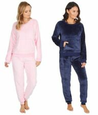 Womens Cotton Blue Penguin Long Sleeve Fleece Pyjama Set Size XL 16//18 P104