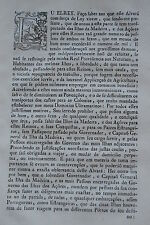 1758 – Azores Madeira Brazil Portugal Immigration & Commerce- 2 Laws