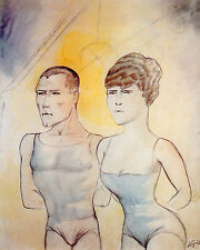 Otto Dix Prints: Defiers of Death, Two Trapeze Artists: Fine Art Print