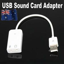 USB 2.0 Virtual 7.1 Channel Audio Sound Card Adapter Cable 3d Vista Win7 64 Mac