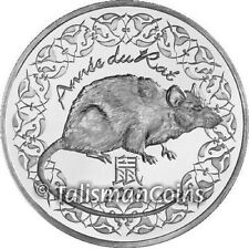 France 2008 Year of the Rat Chinese Lunar Zodiac 1/4 Euro Silver Quarter