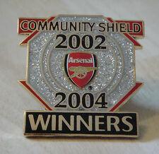 ARSENAL Victory Pins 2002/04 COMMUNITY SHIELD WINNERS Danbury Mint badge