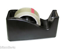"""1"""" Wide Tape Weighted Base Desktop Tape Dispenser + 2 cores + 1 Roll Clear Tape"""