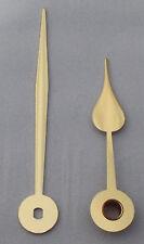 1 Paar Zeiger Birnform für Junghans W838 und W817, metall goldfarbig 53/73 mm