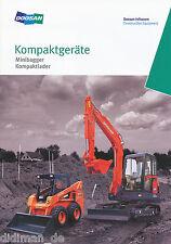 Prospekt Doosan Minibagger Kompaktlader 12 06 Baumaschinen Korea 2006 excavator