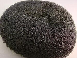 Women HAIR DOUGHNUT BUN DOUNT RING SHAPE S, M, L, XL or XXL elastic nylon wire.