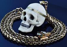 WOW! $35000 Memento Mori Skull Verge Fusee watch&gild chain seal fob c1810