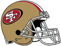 San Francisco 49ers Helmet NFL Vinyl Decal / Sticker Sizes Free Shipping