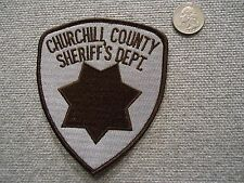 Churchill County Sheriffs Department Patch
