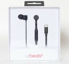Beats by Dr. Dre urBeats3 Earphones with Lightning Connector - Black New-Openbox
