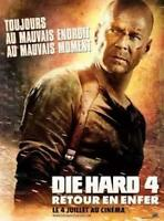 AFFICHE DIE HARD 4 Bruce Willis 4x6 ft Bus Shelter Poster Original 2007