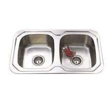 780*480*170mm Stainless Steel Double Bowl Drop In Kitchen Sink