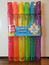 PLAY DAY Bubble Maker Stick Toy, 6 Pack, Multi-Color, 30 0z.