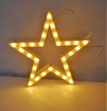 Stern Leuchtstern Holz 30 LED beleuchtet Beleuchtung Weihnachten 37 cm 4957350