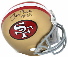 49ers Jerry Rice #80 Authentic Signed Full Size Rep Helmet BAS Witnessed