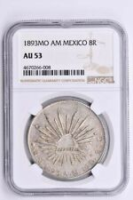 1893MO AM Mexico 8 Reales NGC AU 53 Witter Coin