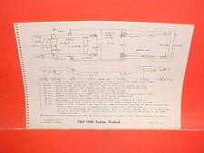 1967 1968 PONTIAC FIREBIRD RAM AIR 400 350 HO CONVERTIBLE FRAME DIMENSION CHART