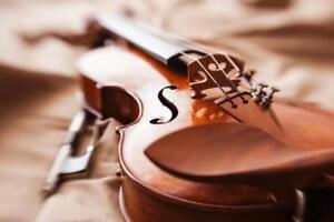 Close Up of Beautiful Violin Photo Art Print Mural inch Poster 36x54 inch