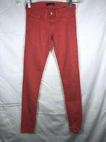 Flying Monkey Size 1 2 Coral Super Skinny Stretch Denim Pants Jeans Orange