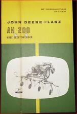 John Deere Kreiselzettwender AH 200 Betriebsanleitung