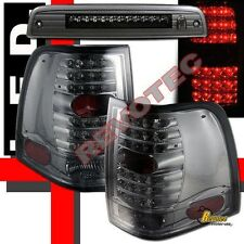 03 04 05 06 Ford Expedition XLT XLS LED Tail Lights & 3rd Brake Light Smoke