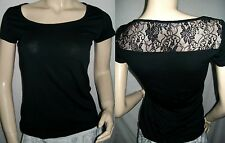 Tee-shirt avec dentelle 3 SUISSES, très stretch.  Taille 38  Neuf++++++++++
