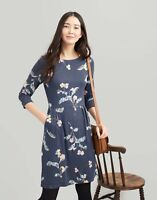 Joules Beth Jersey Dress (Grey Floral)