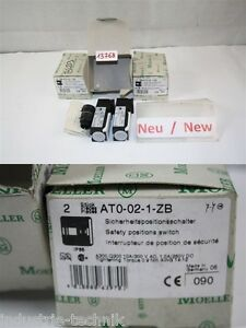2 X Pieces Moeller Sicherheitspositionsschalter AT0-02-1-ZB Safety Positions Swi