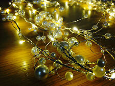 2M WARM LED Pearl Christmas XMAS Tree party string garden garland spray lights