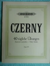 Czerny 40 tägliche Übungen opus 337 A. Ruthardt Edition Peters Nr. 2409
