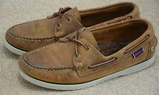 Sebago Docksides Brown Men's Deck Casual Shoes Size 7.5 UK 41.5 EUR Leather