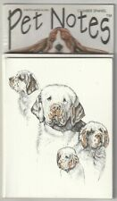 """Clumber Spaniel Dog Pet Notes Blank Note Cards 6 Cards & Envelopes 5.5"""" X 4.25"""""""