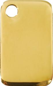 Rectangular   Brass ID Tag - Free Shipping & Engraving / Identification Cat Dog