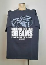 MILLION DOLLAR DREAMS  Streetwise Clothing T Shirt Gray Size 4XL Rags To Riches
