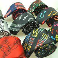Music Note Print Men's Neck Ties Fashionable Printed Pattern Suit Accessory Wear