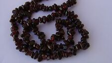 VINTAGE ART DECO JEWELLERY GORGEOUS BOHEMIAN REAL GARNET BEAD GEMSTONE NECKLACE