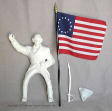 HARTLAND Horses Steven Unpainted WASHINGTON Rider, hat, flag, sword, saddle set