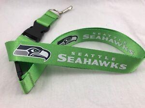 High Quality Seattle Seahawks Lanyard Keychain Keyring Badge Holder Breakaway
