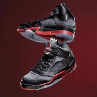 Nike Air Jordan 5 Retro V Satin Black University Red Bred Men Women Kids Pick 1